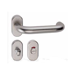 GR660031 tropex L15RWf09 deurkruk met ovale rozet en vrij en bezet