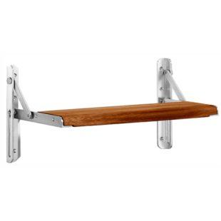 GR100028 N 1006 A douche zitje opklapbaar met hout zitting