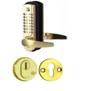 GR200129 Cijfercode slot met messing kerntrke veiligheids rozet
