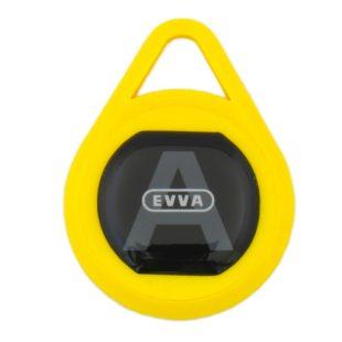 GR20098 Evva key sleutelhanger geel