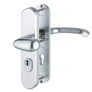 GR400158 Hoppe marseille voordeurgarnituur knop met deurkruk pc 72