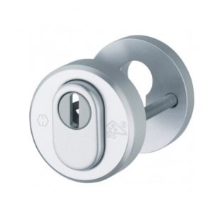 GR400238 Hoppe veilighieds cilinder rozet met kerntrek ALu